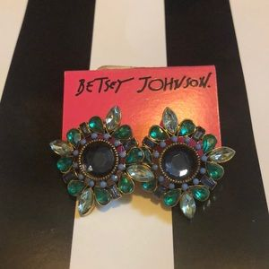 BetseyJohnson Emerald color studs